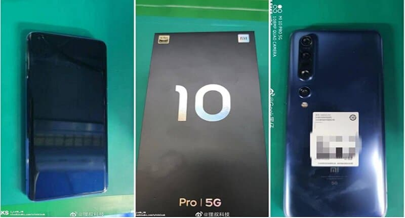 Xiaomi Mi 10 Pro 5G Real Life Images Reveals 108MP Quad Cameras With Punch-Hole Display