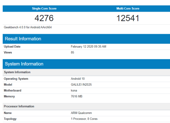 OnePlus 8 Specifications Surfaced on GeekBench Database