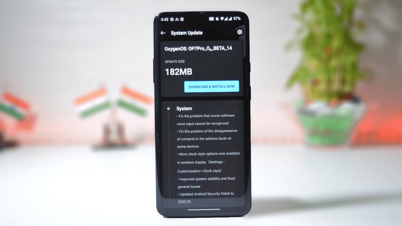 OxygenOS Open Beta 14 Update For Oneplus 7/7Pro w/ New clock styles & May 2020 Security Patch