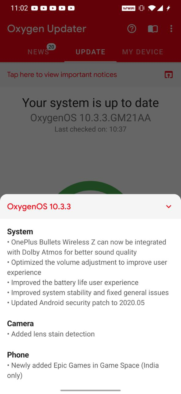 Oxygen OS 10.3.3 for OnePlus 7&7 Pro brings Dolby support for Bullet wireless Z