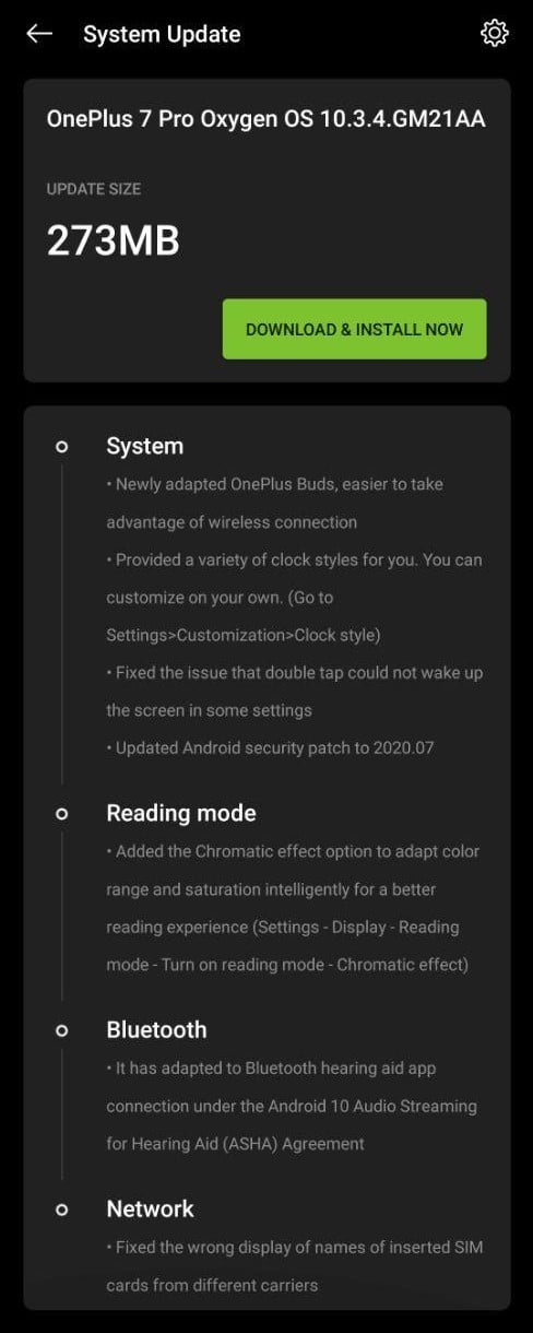 Oxygen OS 10.3.4 for Oneplus 7 & 7 Pro gets new Ambient Clock styles w/ July patch