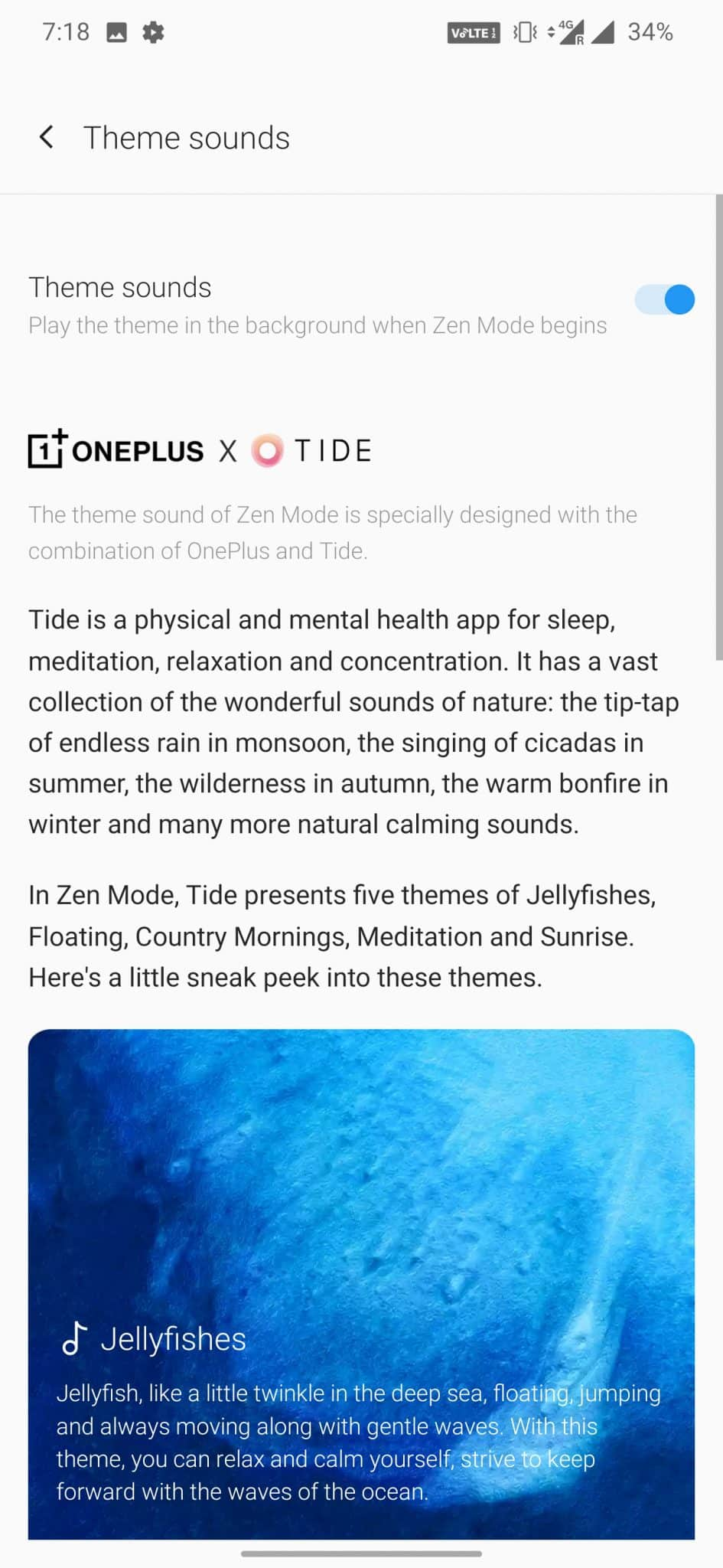 Oneplus updates Zen Mode in collaboration with Tide app adding them sound