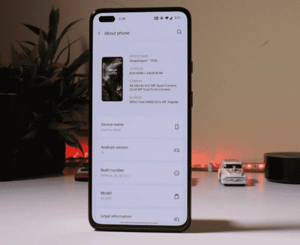 OxygenOS 11 Open Beta 1 for the OnePlus Nord