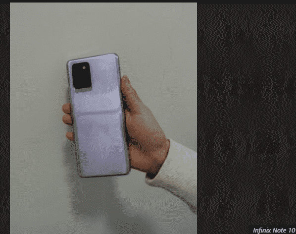 Infinix Note 10 Pro real-life images leaked !!!