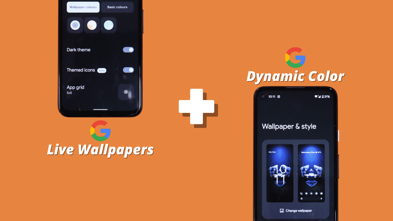 Pixel Live Wallpaper 1.6 enables Material You Dynamic Color on Android 12
