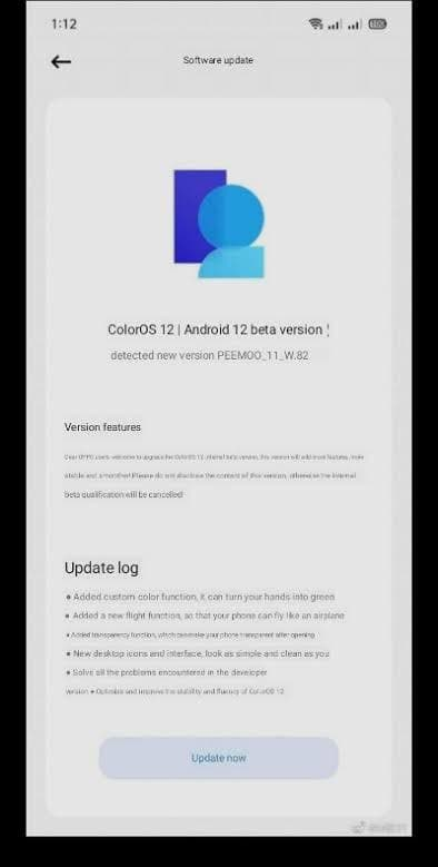 Color OS 12 Latest Screenshots Reveal new Features.
