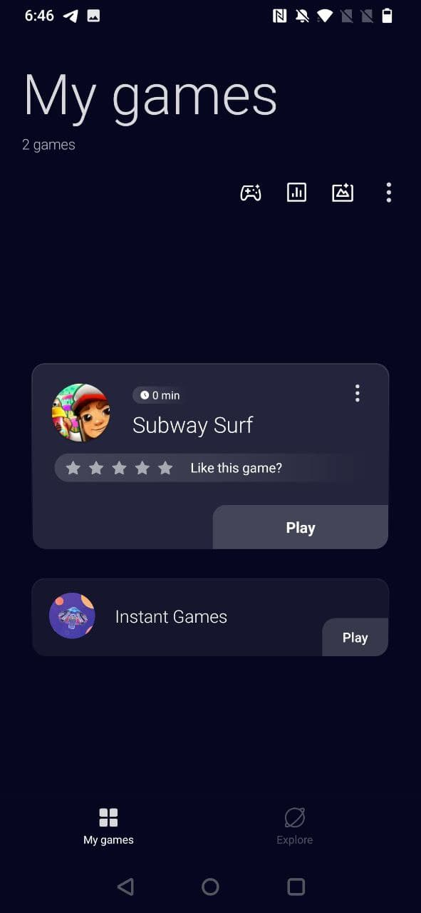 Oneplus latest Game space 2.11