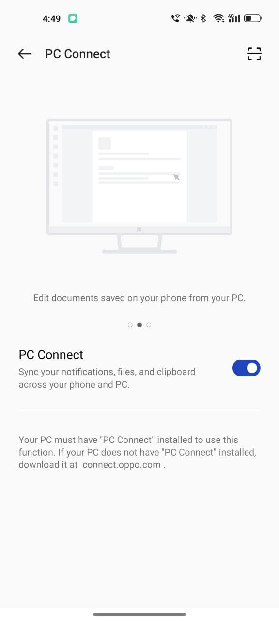 How to use PC Connect feature on Color OS 12